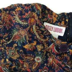 True Vintage Printed Dress by Maggy London | Navy